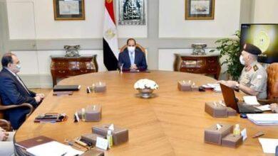 صورة الرئيس السيسى   يتابع استعراض الموقف التنفيذي للأعمال الإنشائية والهندسية في العاصمة الإدارية الجديدة.
