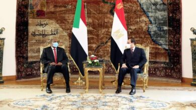 صورة السيسى : تمسك مصر والسودان بالتوصل لاتفاق قانوني ملزم يضمن قواعد ملء وتشغيل سد النهضة