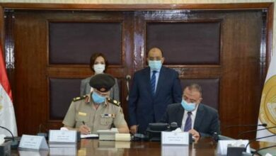 صورة وزير التنمية المحلية يشهد توقيع عقد إنشاء وحدة لنظم المعلومات الجغرافية بمحافظة الإسكندرية