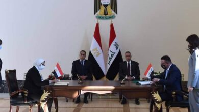 صورة مدبولى والكاظمى يشهدان توقيع 15 اتفاقية ومذكرة تفاهم وبروتوكول تعاون بين البلدين