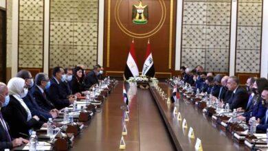 صورة رئيس الوزراء يلقي كلمة في افتتاح أعمال اللجنة المصرية العراقية العليا المشتركة ببغداد