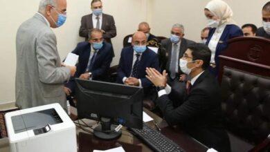 صورة وزيرا العدل و الاتصالات يشهدان اطلاق نظام تجديد الحبس الاحتياطي عن بعد