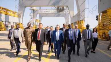 """صورة وزير الري """"الجنوب سوداني"""" يزور المنطقة الاقتصادية لبحث التعاون المشترك"""