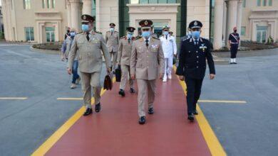 صورة الفريق محمد فريد رئيس أركان حرب القوات المسلحة يغادر إلى السودان