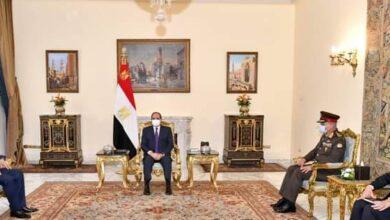 صورة الرئيس السيسى يستقبل وزير الدفاع العراقى  لبحث التعاون العسكرى والقضايا والملفات العربية والإقليمية