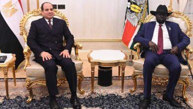 صورة السيسى يعقد مباحثات ثنائية مع سلفاكير لبحث العلاقات بين البلدين