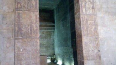 صورة الوزيرى : الانتهاء من أعمال ترميم وتطوير معبد إيزيس بمحافظة أسوان تمهيدا لافتتاحه قريبا