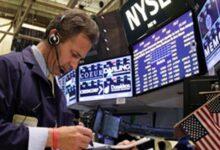 صورة الأسهم الامريكية  تغلق على ارتفاع جماعي