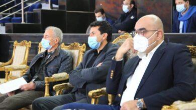 صورة وزير الرياضة يشهد مباراة قطر والبحرين ببطولة العالم لليد بصالة ستاد القاهرة