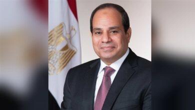 صورة السيسي : الاقتصاد المصرى حقق معدلات نمو إيجابية رغم أزمة كورونا العالمية