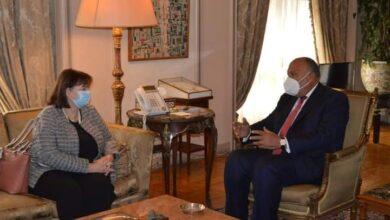 صورة وزير الخارجية يستقبل الممثلة الخاصة للاتحاد الأوروبي لعملية السلام في الشرق الأوسط