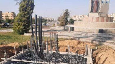 """صورة رئيس جهاز مدينة بدر: بدء تنفيذ أبراج كهرباء الـ""""هاي ماست"""" وتركيب قطع مضيئة بالميادين الرئيسية"""