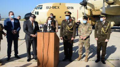 صورة بتوجيهات من السيسى القوات المسلحة ترسل مساعدات طبية إلى الجيش اللبنانى