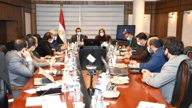 صورة وزيرة التخطيط  تلتقي خمسة وزراء لمناقشة مقترح الخطة الاستثمارية للعام المالي القادم 2021/2022