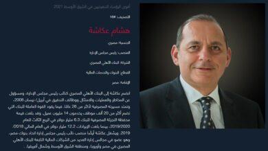 صورة رئيس البنك الاهلى من أقوى الرؤساء المصرفيين المصريين لعام 2021