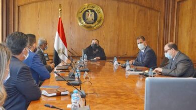 صورة وزير التجارة والصناعة  تستعرض مع أعضاء المجلس التصديري للحرف تنمية القطاع