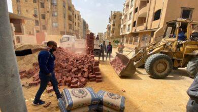 صورة رئيس جهاز القاهرة الجديدة : غلق وتشميع ٩ وحدات مخالفة وإيقاف أعمال تحويل بدروم لسكنى