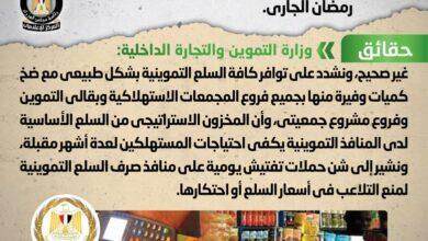 صورة مجلس الوزراء ينفى شائعة وجود عجز في السلع التموينية خلال شهر رمضان الجاري