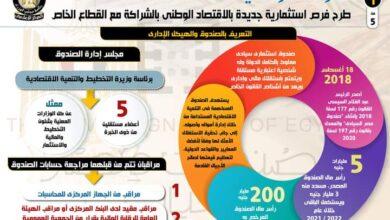 صورة صندوق مصر السيادى: طرح فرص استثمارية جديدة بالاقتصاد الوطني بالشراكة مع القطاع الخاص