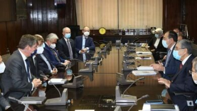 صورة وزيرا الكهرباء والبترول يلتقيان مع سفير بلجيكا بالقاهرة وممثلى شركة DEME لمناقشة ما تم من خطوات فى دراسات الهيدروجين الأخضر