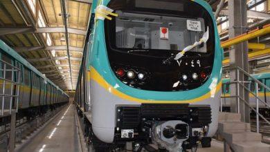 صورة وزير النقل  يعلن وصول القطار التاسع من الـ 32 قطار الكوريين التى يتم تجميعها فى سيماف للخط الثالث