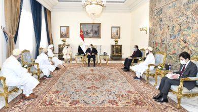 صورة السيسى يلتقى بسلطان البهرة ويشيد بالمبادرة المصرية لإعادة إعمار غزة