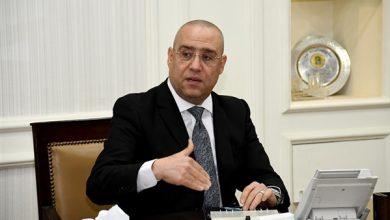 صورة وزير الإسكان يضع حجر الأساس لمشروع أبراج الداون تاون بالعلمين الجديدة