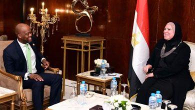 صورة وزيرة التجارة تبحث مع  وامكيلى تعزيز حركة التجارة بين دول القارة السمراء