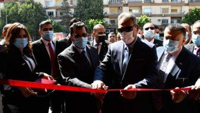 صورة وزير الرياضة يفتتح فرع بنك مصر بنادي النادي بشيراتون