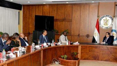 صورة وزير البترول يستقبل رئيس مؤسسة التمويل الأفريقية  لبحث التعاون تمويلة المشروعات
