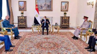 صورة الرئيس السيسى  يستقبل العماد جوزيف عون قائد الجيش اللبناني