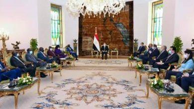 صورة السيسى يستقبل نائب رئيس جنوب السودان  قائلا :  مستمرون فى تقديم الدعم على كافة الاصعدة