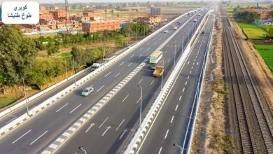 صورة الوزير يتفقد مواقع العمل بمشروع تطوير وتوسعة طريق القاهرة /  الإسكندرية  الزراعي