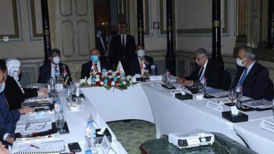 صورة وزير النقل يترأس اجتماع الجمعية العمومية لشركة الجسر العربي للملاحة بحضور نظيريه الأردني والعراقي