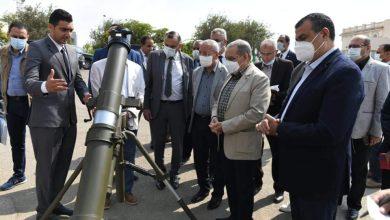 صورة وزير الدولة للإنتاج الحربي يتفقد منتجات الوزارة المزمع عرضها فىEDEX 2021